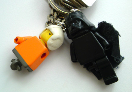 LEGO ルーク・スカイウォーカーとダースベイダーのキーホルダー