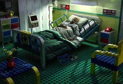レゴでできた病室