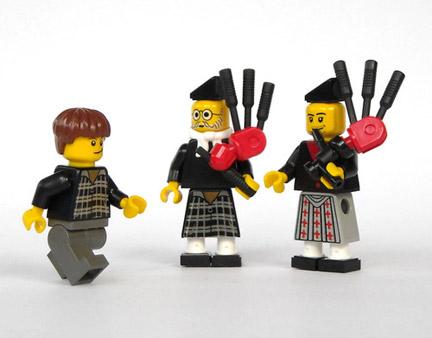 スコットランドキルトとバグパイプ