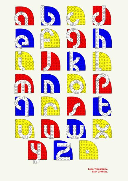 LEGOタイポグラフィ
