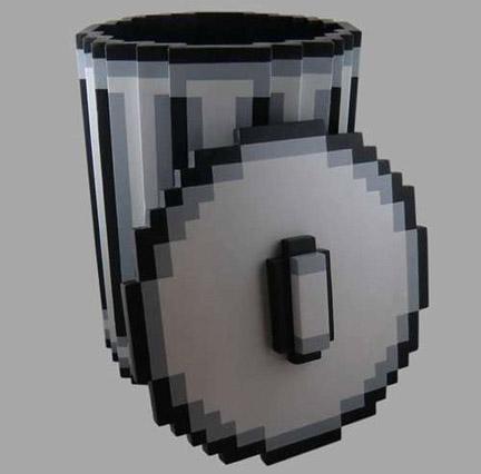 ピクセル仕上げのごみ箱