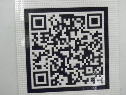 LEGOで作ったQRコード