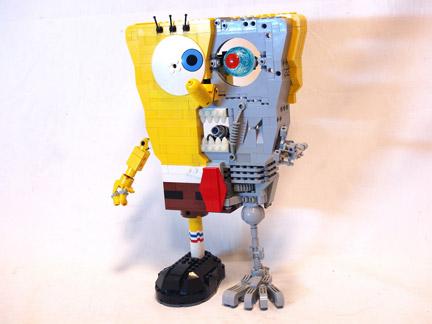 LEGOで見るスポンジ・ボブの立体解剖図