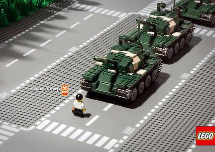 LEGOの広告で再現された「天安門事件」