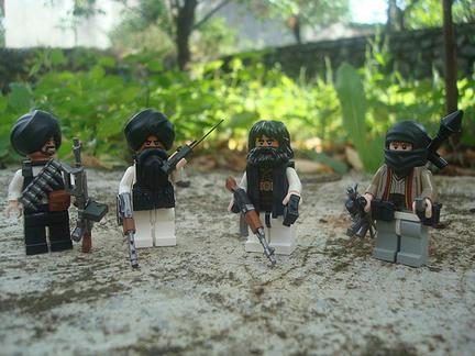 ミニフィグのタリバン兵たち