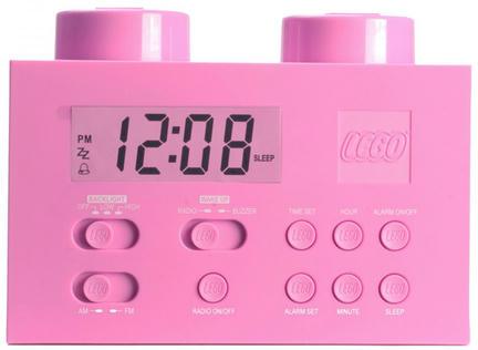 LEGOでピンクな目覚まし時計