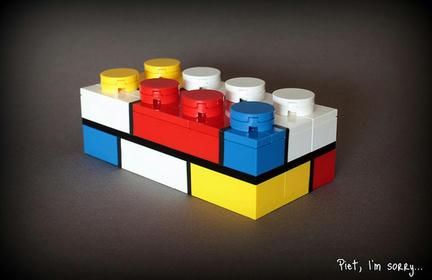 モンドリアンなレゴブロック