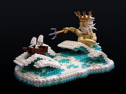 ポセイドンと帆船