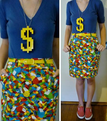 LEGO柄のスカート