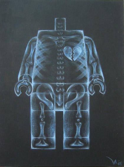 ミニフィグのレントゲン風アート