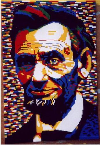 リンカーンのレゴ肖像画