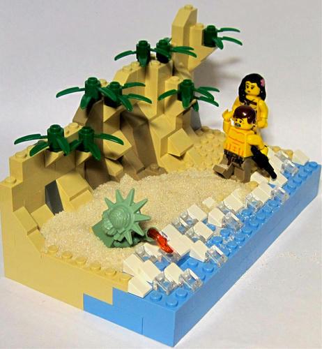 【ネタバレ】映画「猿の惑星」のエンディングをレゴで再現