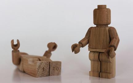 木製ミニフィグ