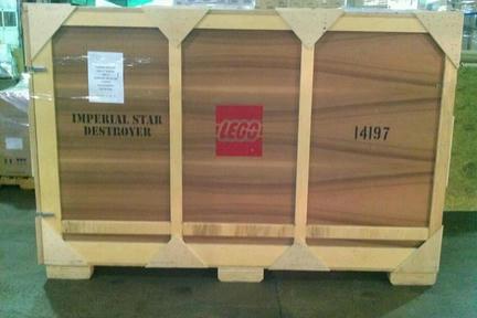 特大レゴ運搬中?