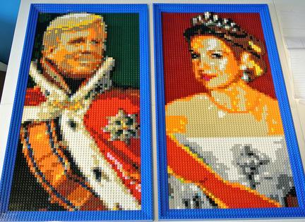 オランダ国王のレゴ肖像画