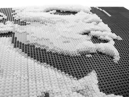 LEGOで作られたデヴィッド・ボウイの肖像画2