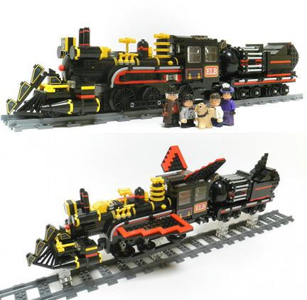 LEGOで「バック・トゥ・ザ・フューチャー3」のタイムマシン
