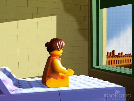 LEGOでエドワード・ホッパー