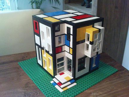 モンドリアンなレゴハウス