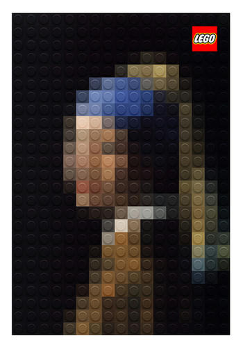 LEGO真珠の耳飾りの少女