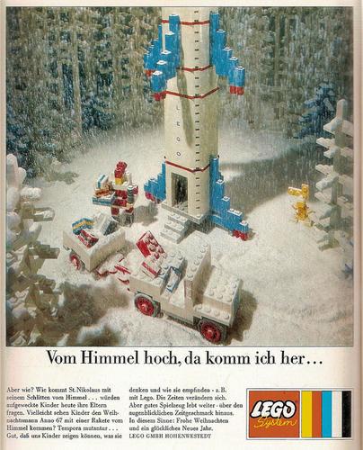 1967年のLEGOの雑誌向けクリスマス広告inドイツ