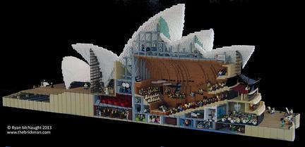 LEGOで見るシドニー・オペラハウスの断面