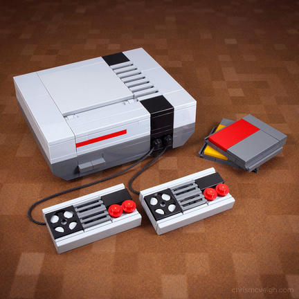 LEGOでできた海外版ファミコン(NES)