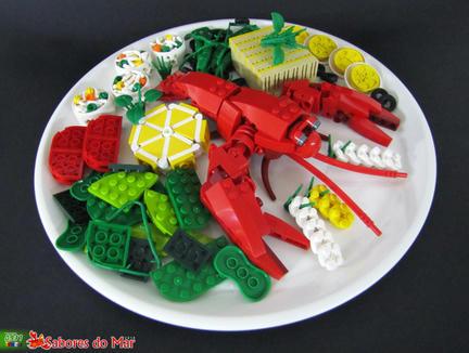 レゴでロブスター料理