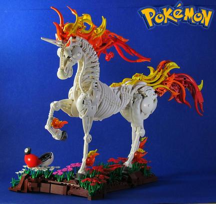 LEGOでできたポケモンのギャロップ