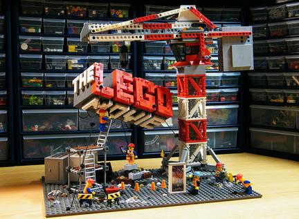 LEGOムービーのメインビジュアルを再現