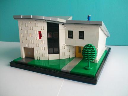 LEGO製のモダンなおうち