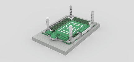 LEGOで作ったハンガリーのシュタディオン・アルベルト・フローリアーン