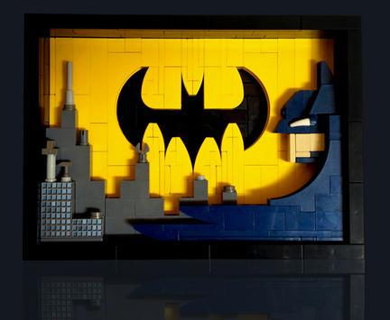 LEGOでつくったバットマンマーク