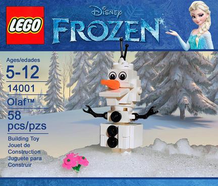 『アナと雪の女王』オラフのパッケージ