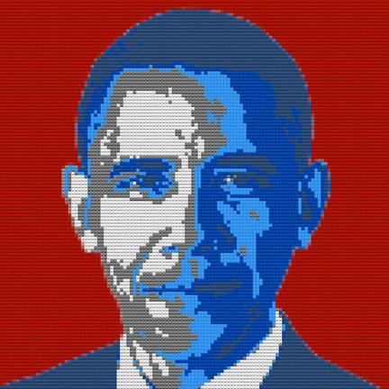 米オバマ大統領のレゴ肖像画