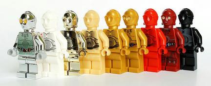ミニフィグC-3POのグラデーション