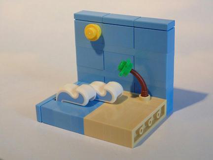 マイクロスケールなレゴ・ビーチ