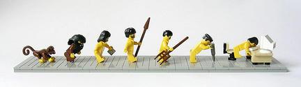 LEGOで見る人類の進化