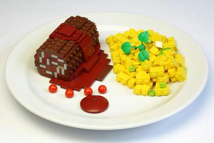 LEGOソーセージとポテトサラダ