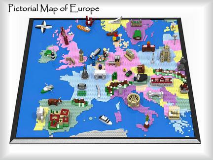 LEGOで作られたヨーロッパ地図