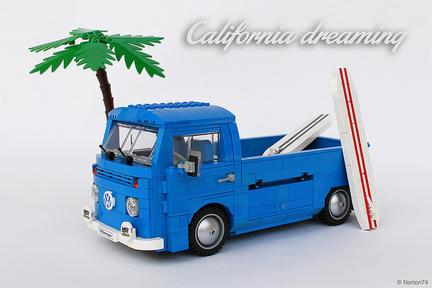 LEGOワーゲンバスのトラック