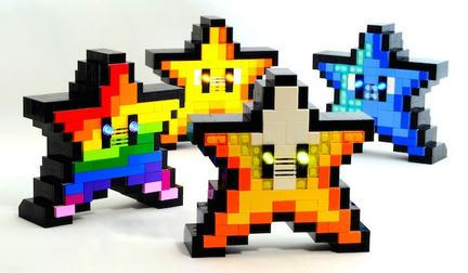 カラフルなスーパーマリオのスター