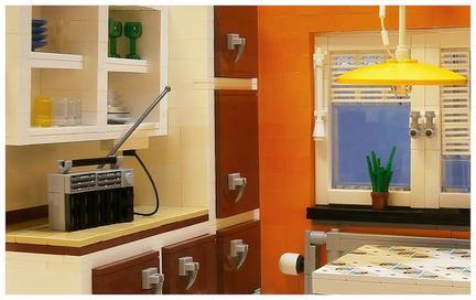 LEGO 70年代キッチン
