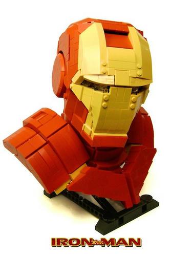 LEGOアイアンマン胸像