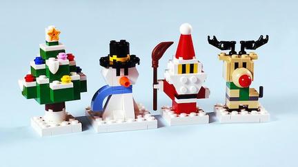 LEGOクリスマスツリー&雪だるま&サンタ&トナカイ