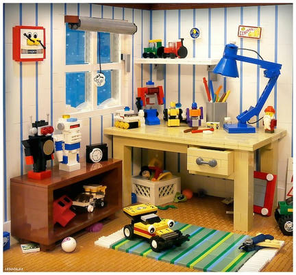 LEGOで再現された80年代の子供部屋