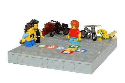 LEGOで子供遊びの風景