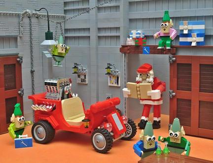 LEGOサンタのホットロッド