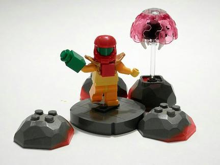 LEGOサムスとLEGOメトロイド