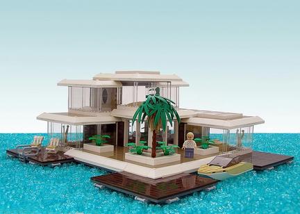 海上のLEGOハウス